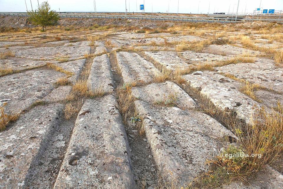 tracks in stone