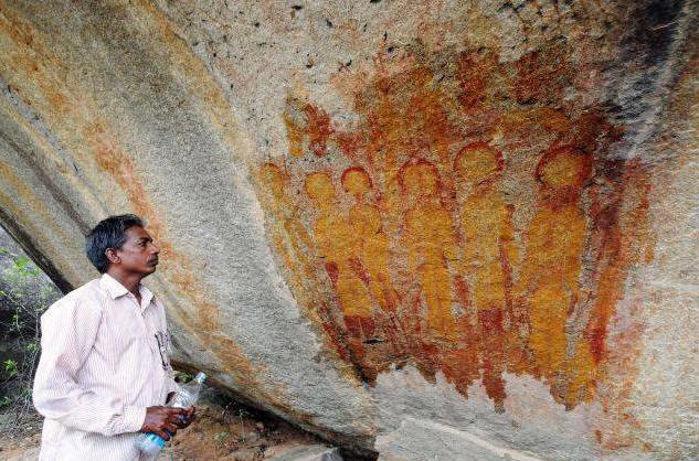 alien cave paintings