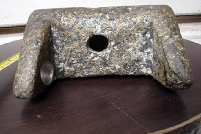 Aluminium wedge of Aiud side view
