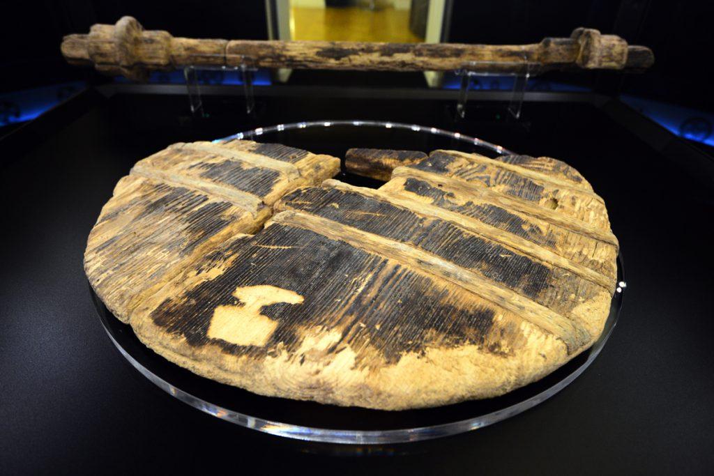 oldest wooden wheel