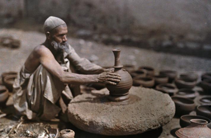 ancient pottery wheel