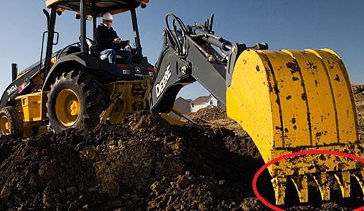 Excavator bucket tooth to explain the aluminium wedge of aiud